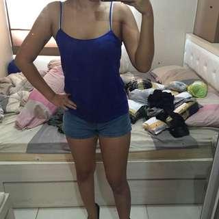 Tanktop Blue Zara
