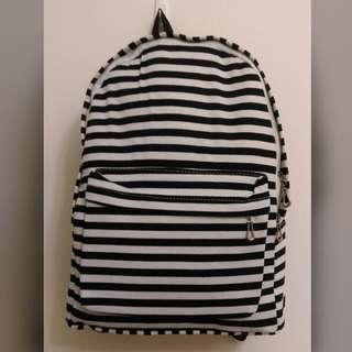 全新-時尚條紋包包