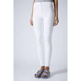 Topshop Authentic White Joni Jeans