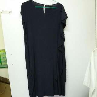 DKNY navy blue silk dress