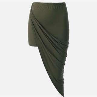 Khaki Asymmetrical Skirt Size Small New With Tags