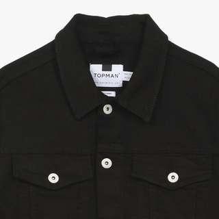 TopMan Black Denim Jacket