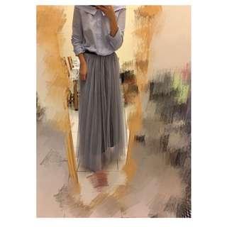 灰色紗裙內裡全長
