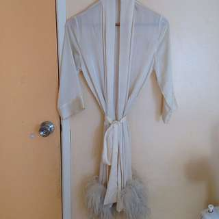 Sheer Feather Robe