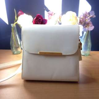 White Bag With Strap
