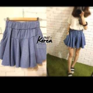 1025 韓 牛仔彈性褲裙