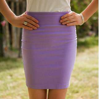 Lulu's Lavender Pencil Skirt