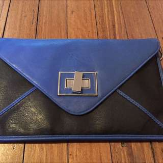 Blue Clutch -with/ Without Strap