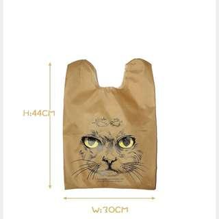 時尚貓咪頭購物袋(出清價)