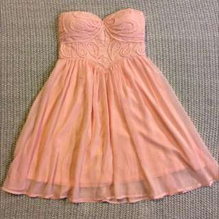 Peach Coloured Cocktail Dress
