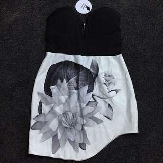 Street Heart Boob Tube Dress Size 12