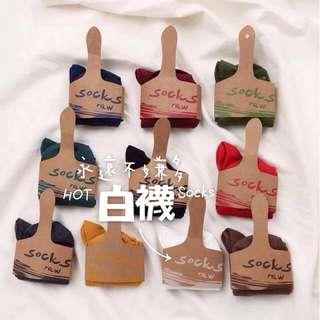 [全新]春夏棉質短襪