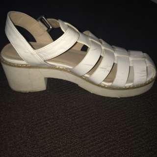 White Heels Size 6