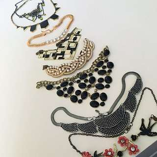 8 necklaces for $35!