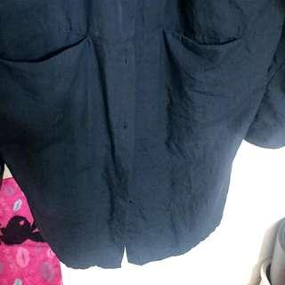 長版黑襯衫