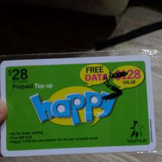 Starhub Happy 128 Prepaid Top Up Card