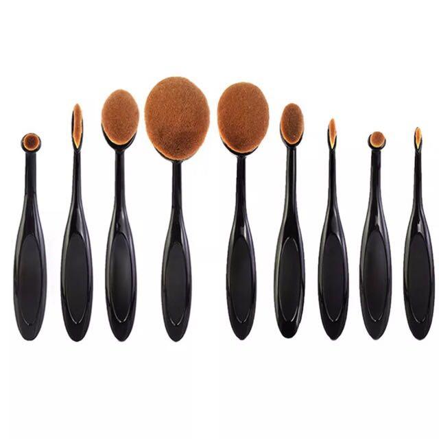 9 Piece Oval Brush Set