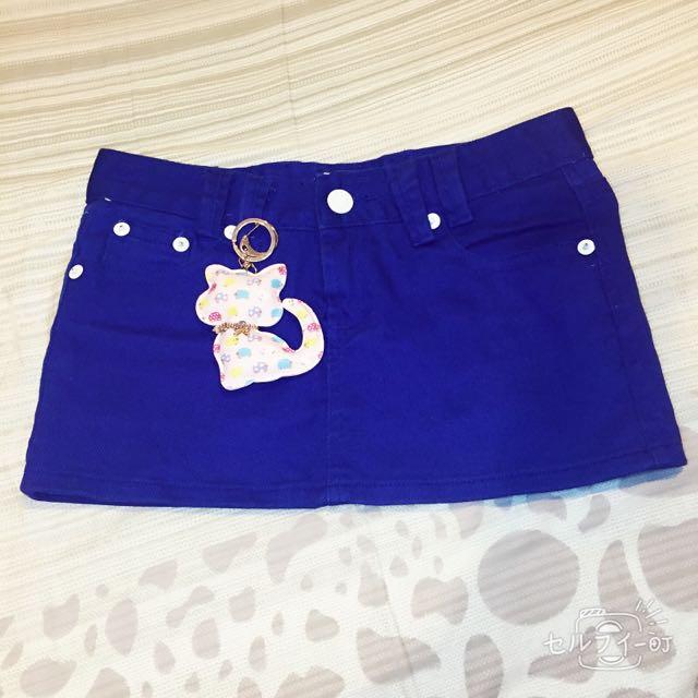 深藍牛仔短裙