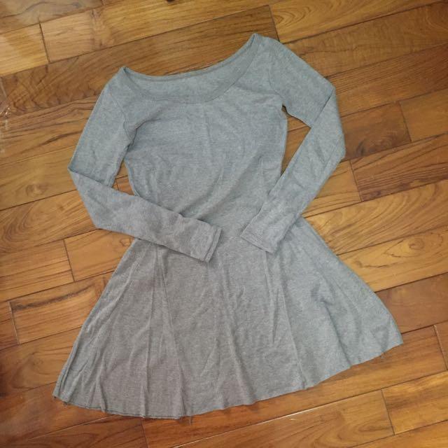 暖灰連身裙