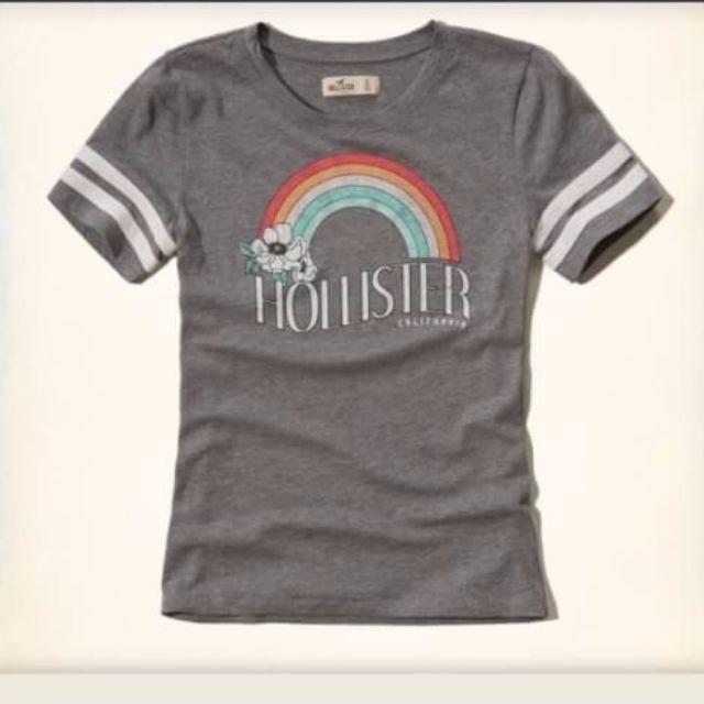 特價 Hollister 圖案 T 恤 女生 S