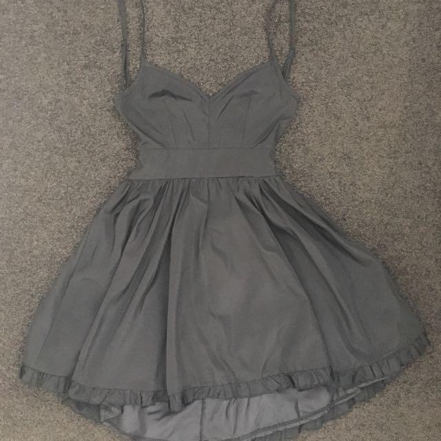 Black Ask Grace Skater Dress