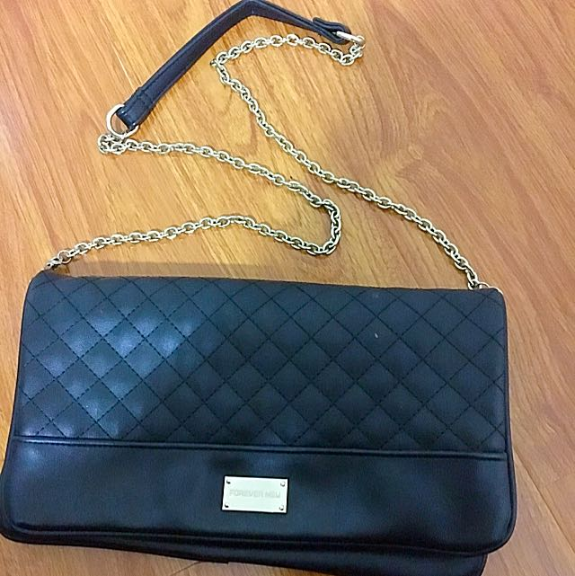 ** Pending**Black Forever New Large Clutch