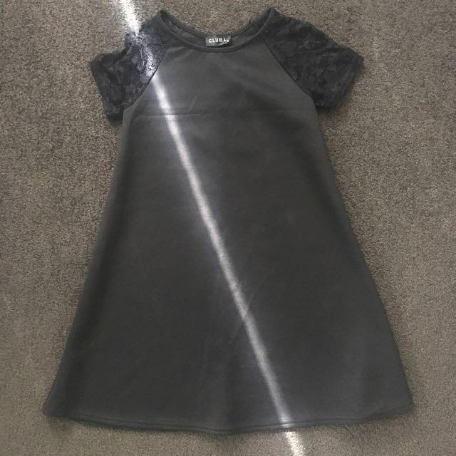 Black Scuba Shift Dress