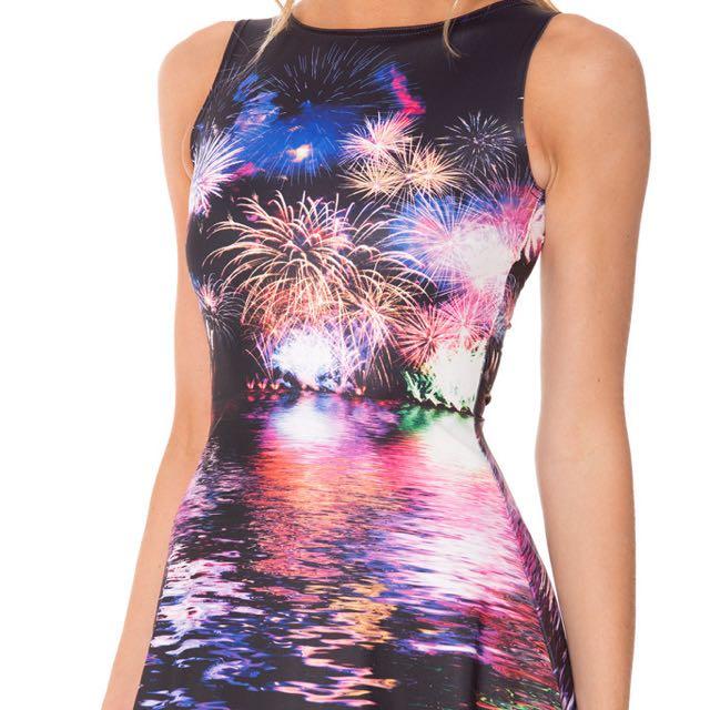 Blackmilk Fireworks Play Dress