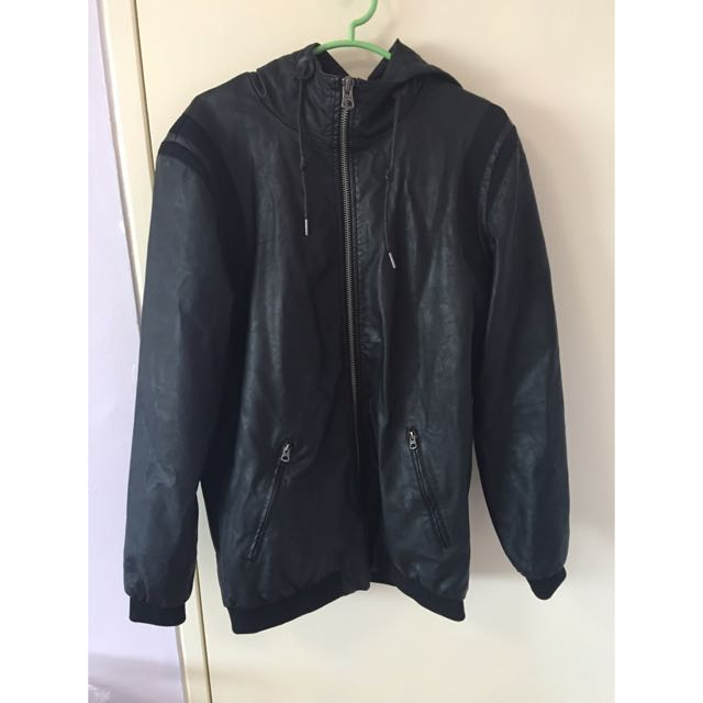 PRIZE REDUCED! - BNWOT - Oversized Faux Leather Hoodie - Pull&Bear