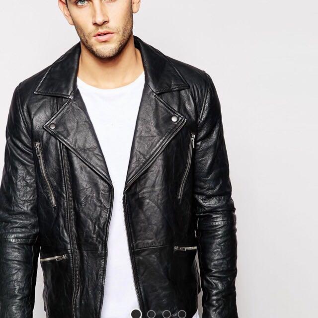 BNWT - Genuine Leather Biker Jacket - Barney's Original