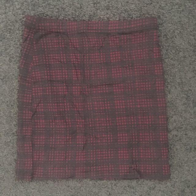 Boohoo Tartan Skirt