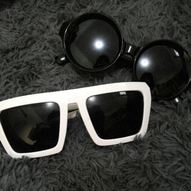 Bowl Sunglasses + BONUS White Gaga Sunglasses