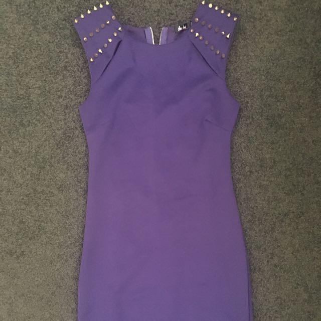 Chicabooti Purple Bodycon Dress 8