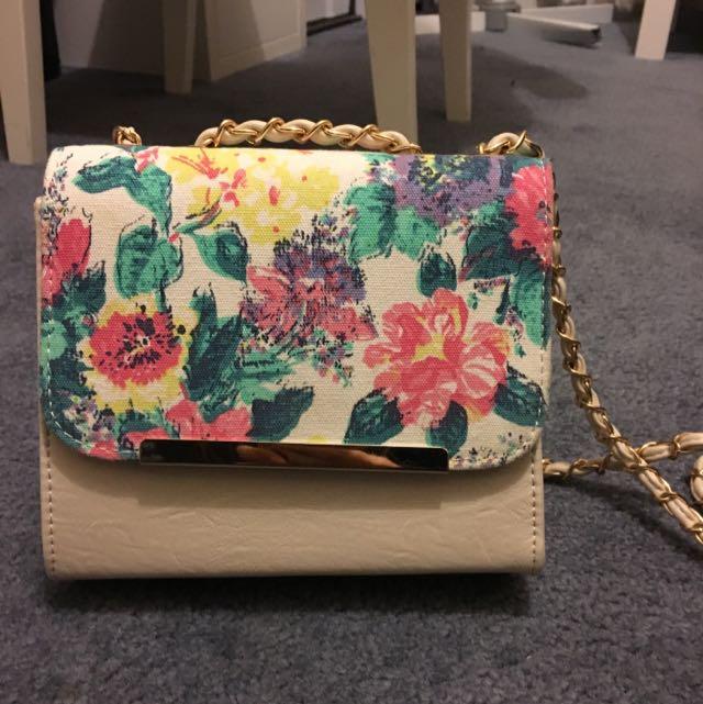 Cute Floral Print Bag