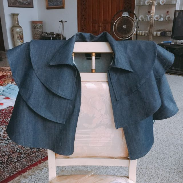 Denim Cape Outerware
