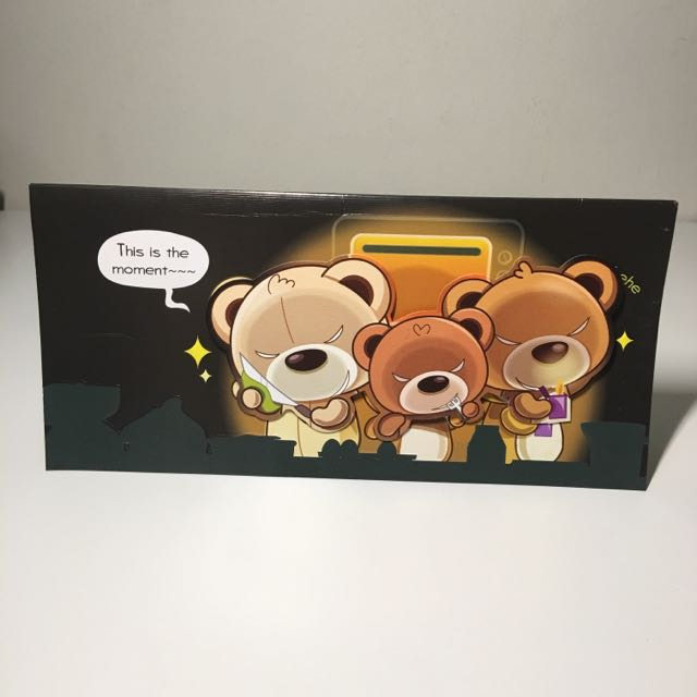 NATIONAL DAY SALE Evil Bear Pop Up Birthday Card Included