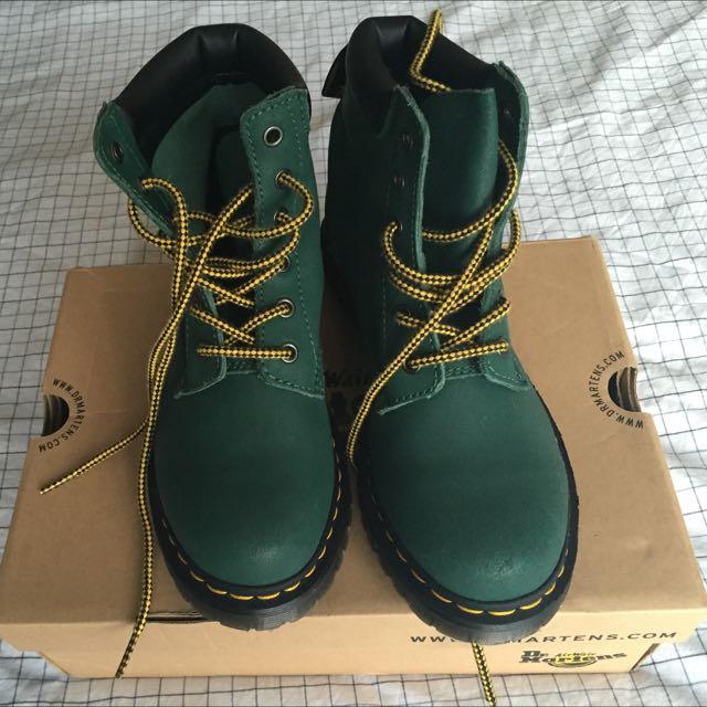 Forest Green Doc Marten Boots