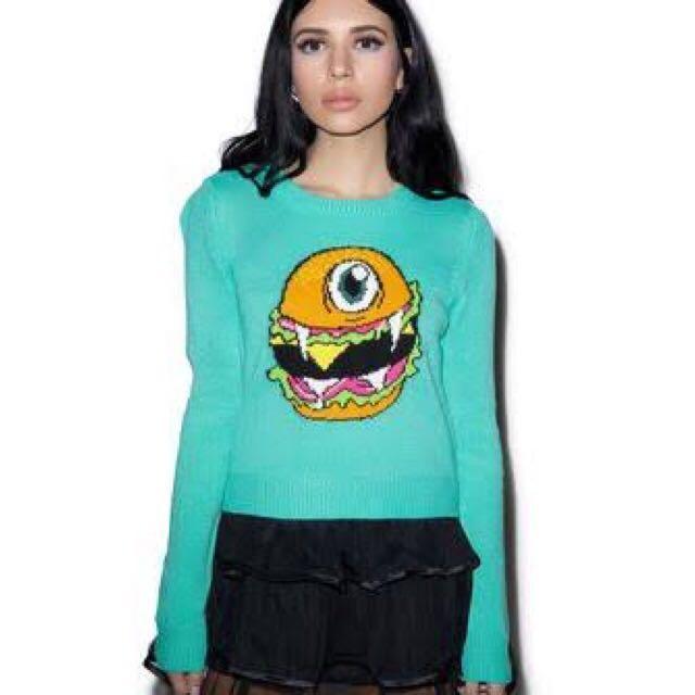 IRON FIST NWT Cyclo Burger Knit Sweater