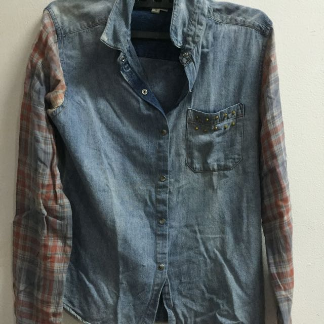 -REDUCED PRICE- Kemeja Jeans Vintage Unik