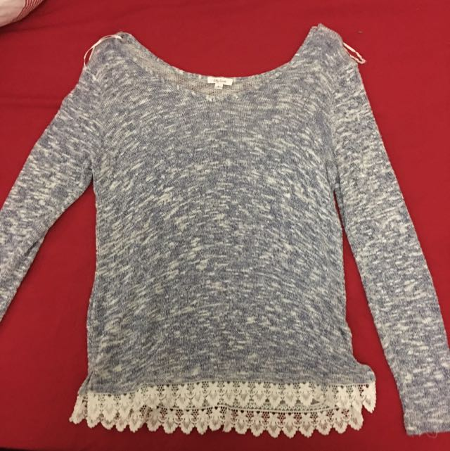 Lace Bottom Long Sleeved Shirt