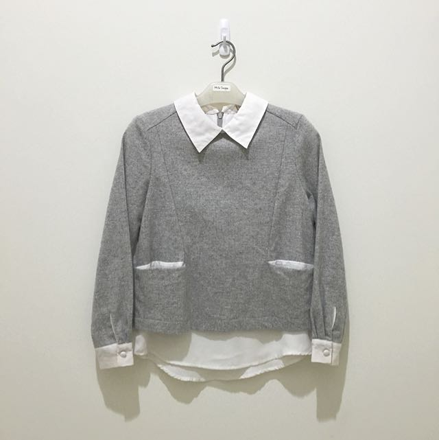 LITTLE HICCUP PREPPY COLLARED BLOUSE