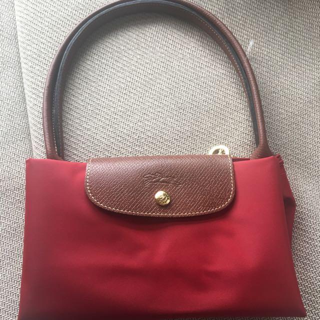 Longchamp 肩包(長柄,紅色
