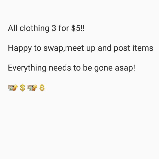Lots Of Clothes Available!
