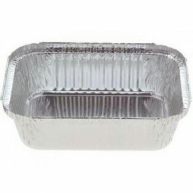 Medium 990ml aluminium tray with lids