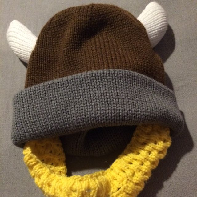 Viking Hat With Beard Attached