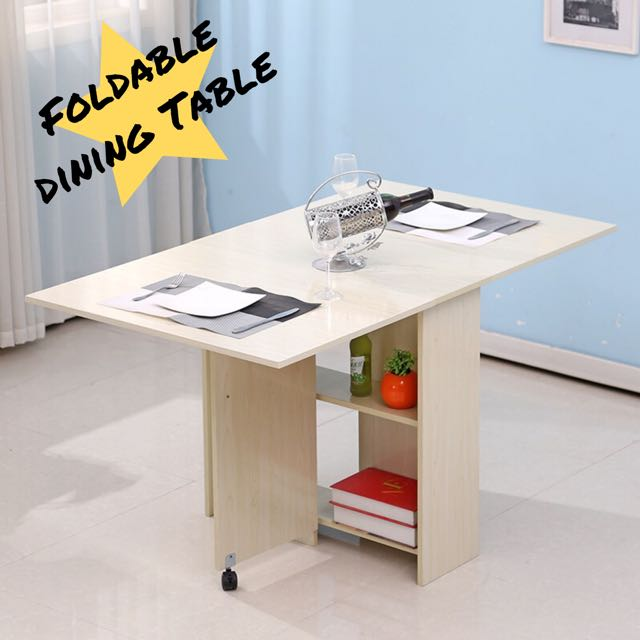 Phenomenal Simple Foldable Folding Movable Dining Table Space Solution Beutiful Home Inspiration Truamahrainfo