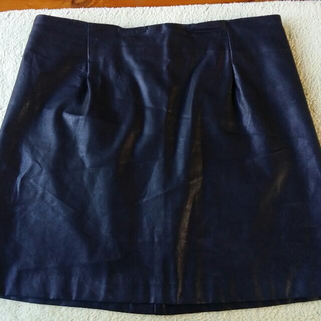 Mink Pink Leather Medium Skirt