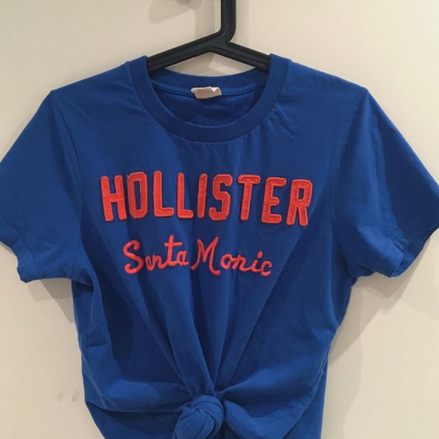 persian blue Hollister top