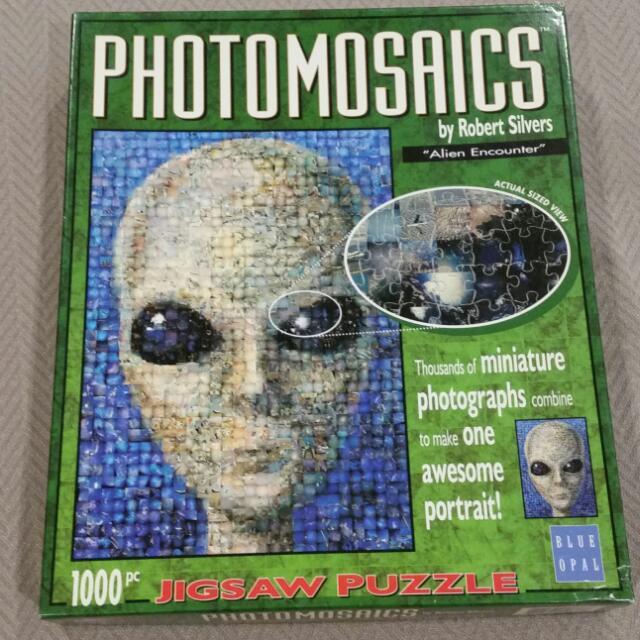 "Photomosaic ""Alien Encounter"" 1000 Pc Jigsaw Puzzle"