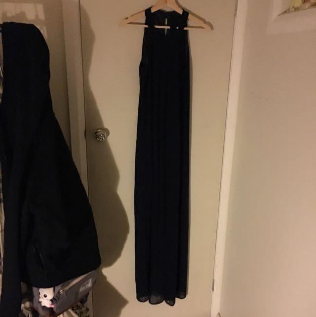 Pilgrim Navy Halterneck Formal Dress